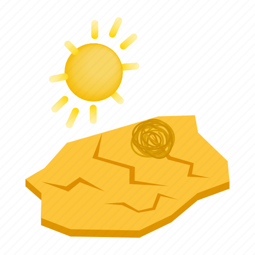 climate, desert, drought, dry, environment, isometric, warming icon