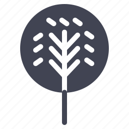 ecology, forest, nature, park, round, tree icon