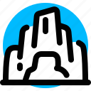cave, cavern, tunnel icon