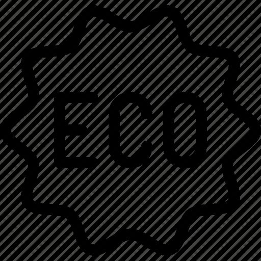 badge, eco, ecology, environment, line-icon, nature icon