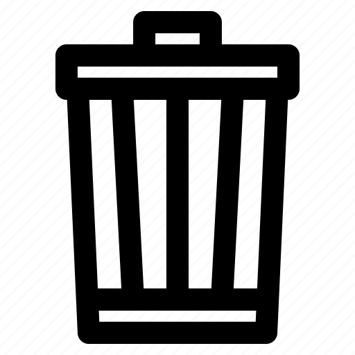 bin, can, delete, ecology, garbage, recycle, trash icon