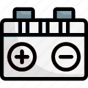 battery, car, charge, power icon