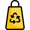 bag, recycle, recycling, reusable icon