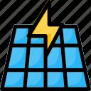 electricity, energy, panel, power, solar