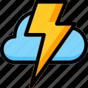 thunder, flash, cloud, lightning