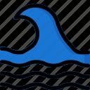 water, ocean, sea, waves