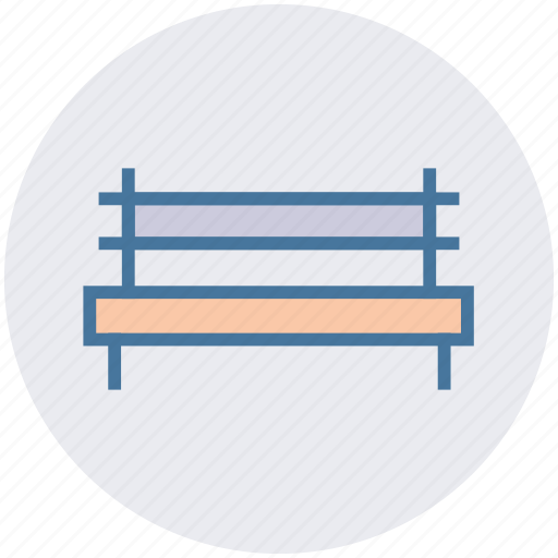 bench, nature, outdoor, park, rest, wooden icon