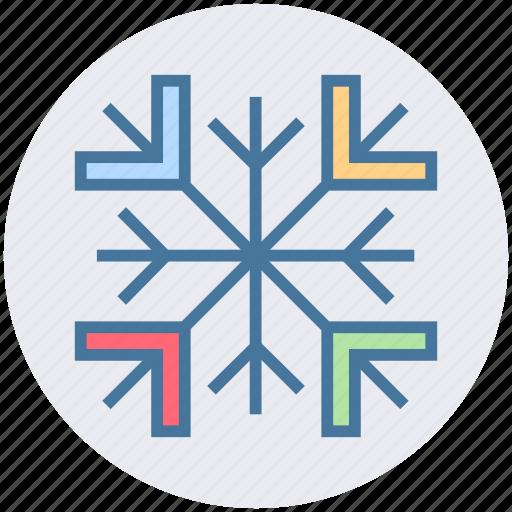 cool, flake, nature, snow, winter icon