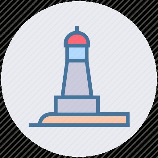 beach, light house, ocean, park, sea light house, sea tower icon