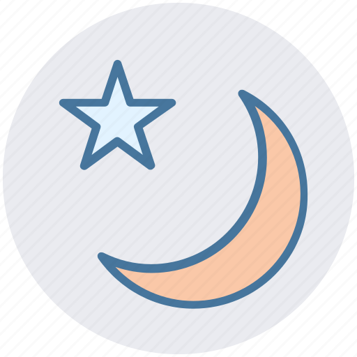moon, nature, night, sky, star, weather icon