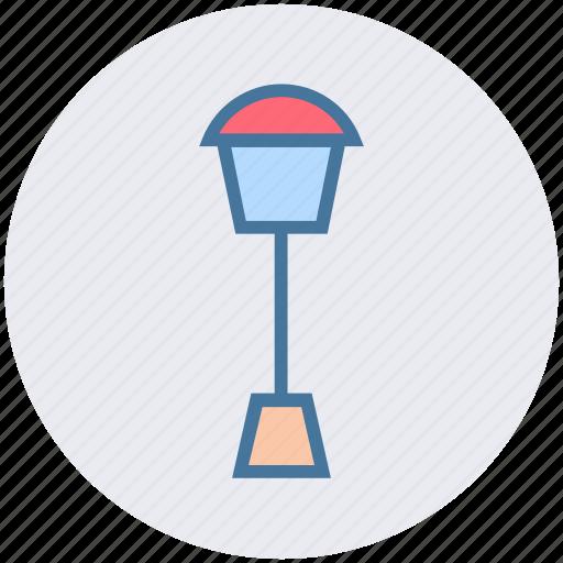 elements, garden, lamp, light, park, street, town icon