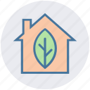 agriculture, ecology, house, leaf, natural, organic icon