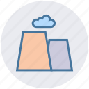 cause, cloud, landscape, nature, volcano, weather icon