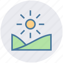 forest, nature, park, season, summer, sun icon