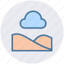 cloud, forest, nature, park, season, summer icon