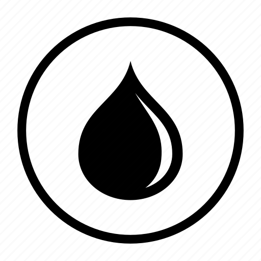 circle, clean, drop, element, oil, water icon