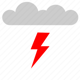 cloud, electric, nature, shock, weather icon