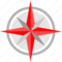 compass, location, nature, tourism icon