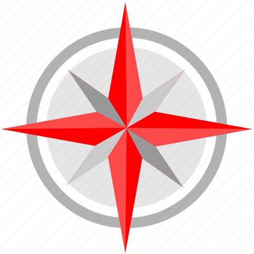 compass, location, nature, tourism icon