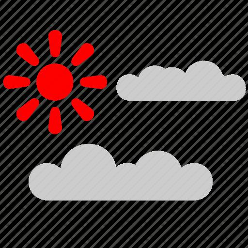 clouds, nature, sun, tourism icon