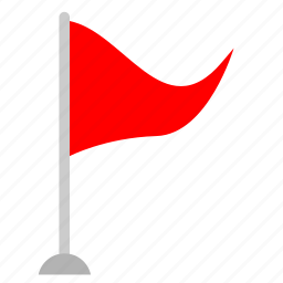 flag, point, red, tourism icon