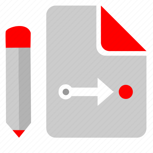 list, location, point, way, write icon