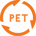 botle, pet, plastic, recycle icon