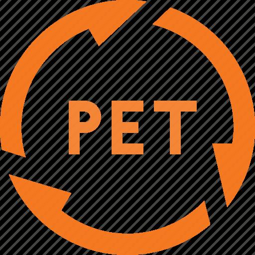 botle, pet, plastic, recycle icon