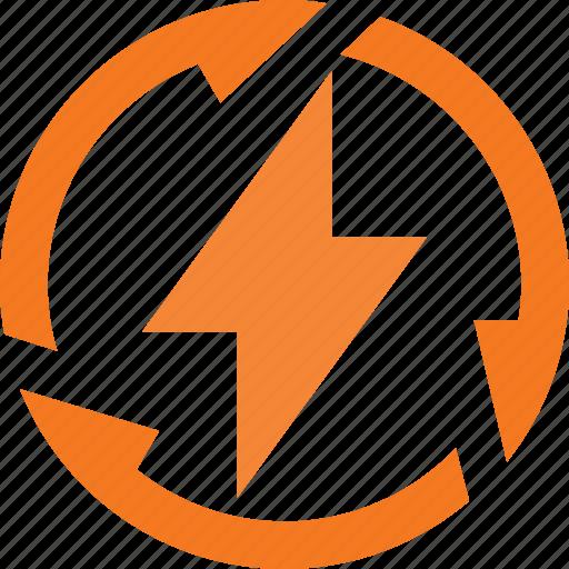 electricity, energy, recycle, renewable icon