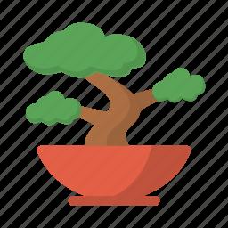 bonsai, feng shui, nature, plant, pot, zen icon