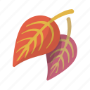 falling, leaf