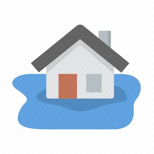 coverage, flood, home, insurance, rain icon