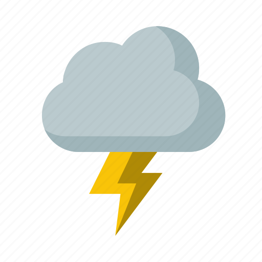 bolt, cloud, lightning, storm, weather icon