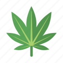 ganja, leaf, marijuana, natural, reefer, weed icon