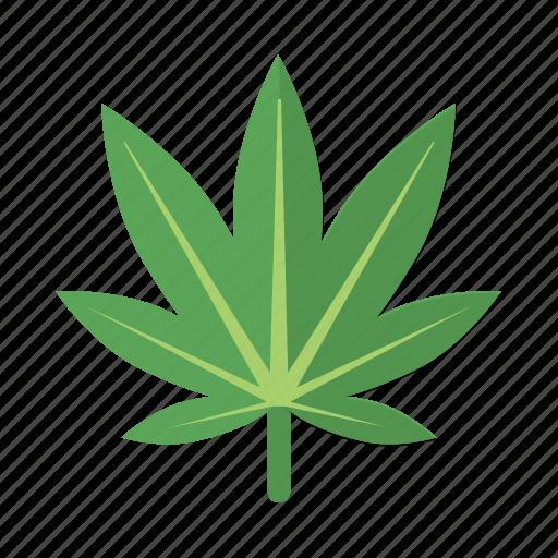 ganja, leaf, marijuana, natural, reefer, weed icon