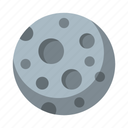 moon, night, nighttime, space icon