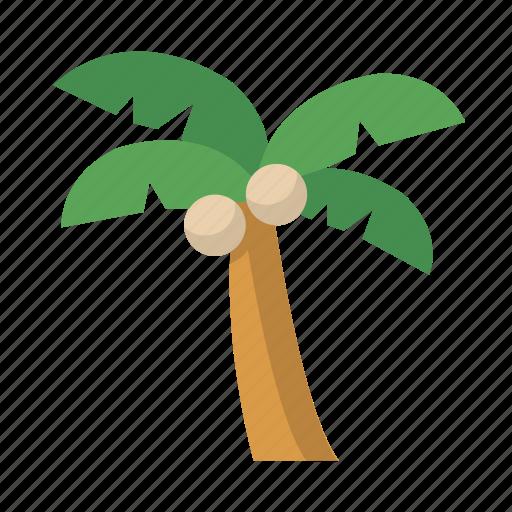 island, palm, tree, vacation icon