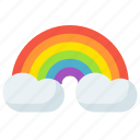 bow, clouds, equality, gay, pride, rain, rainbow icon