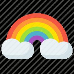 bow, clouds, equality, gay, pride, rain, rainbow icon