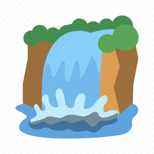 Natural, nature, water, waterfall, outdoors, river, landscape icon