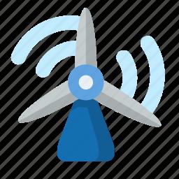 energy, green, power, turbine, wind, windmill icon