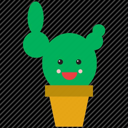 cactus, emoji, emoticon, face, nature, plant, smiley icon