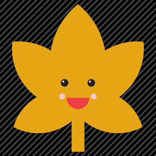 brown, emoji, emoticon, face, leaf, nature, smiley icon