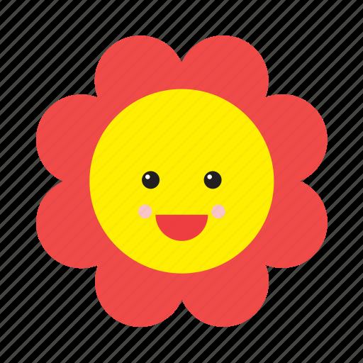 Daisy Emoji Emoticon Face Flower Nature Smiley Icon