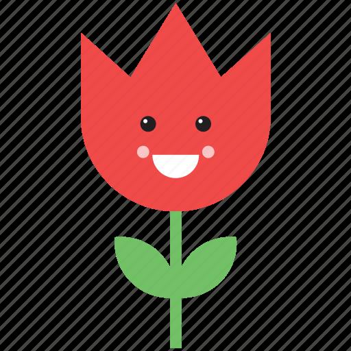 emoji, emoticon, face, flower, nature, rose, smiley icon