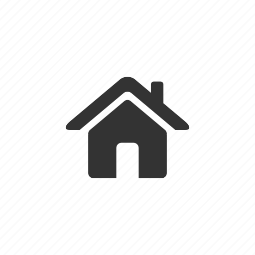 building, chimney, door, entrance, exit, home, house, illustration, roof icon