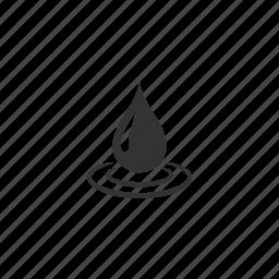 aqua, drop, fall, illustration, liquid, raindrop, rainwater, ripple, tear, water icon