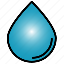 drop, droplet, set, water, rain, liquid, blue