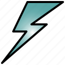 lightning, powerful, light, bolt, glow, flash