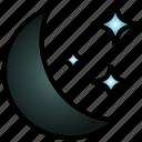 night, moonlight, landscape, sky, moon, evening